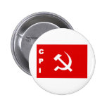 CPI-flag communist party of India Button