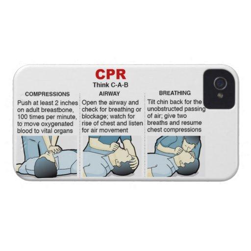 CPR - compañero del caso del iPhone 4 iPhone 4 Case-Mate Cárcasa