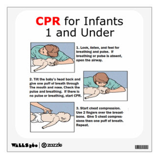 CPR for Infants Wall Decal
