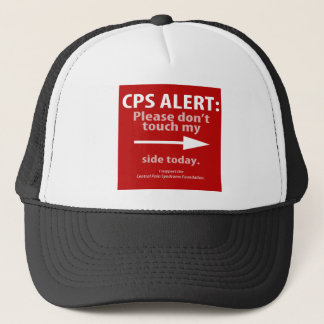 CPS ALERT: Please don't touch me on the left side. Trucker Hat
