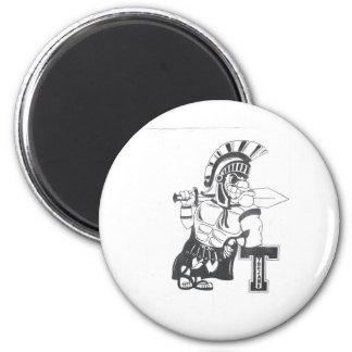 Cps Trojans Under 14 2 Inch Round Magnet
