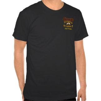 Cptn de consumición alemán - personalizado camiseta