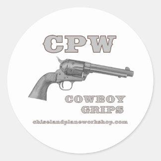 CPW COWBOY GRIPS CLASSIC ROUND STICKER