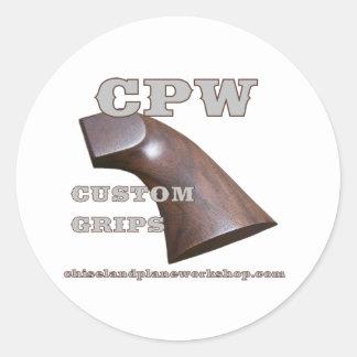 CPW GRIP CLASSIC ROUND STICKER