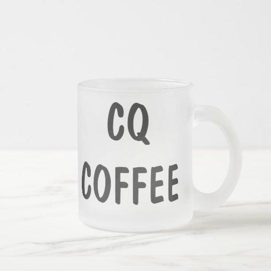 CQ COFFEE FROSTED GLASS COFFEE MUG