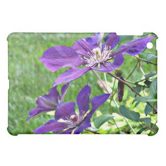 CQ- Purple Claematis Floral  iPad Mini Cover