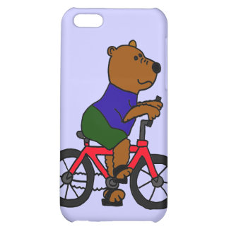 CR- Bear Bicycling Cartoon Case For iPhone 5C