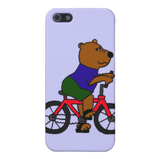 CR- Bear Bicycling Cartoon Covers For iPhone 5