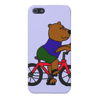 CR- Bear Bicycling Cartoon iPhone SE/5/5s Case