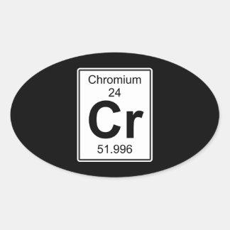 Cr - Chromium Oval Sticker