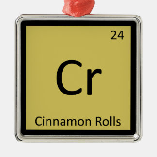 Cr - Cinnamon Rolls Chemistry Periodic Table Christmas Tree Ornament