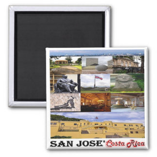 CR - Costa Rica - San José Mosaic - Collage Magnet