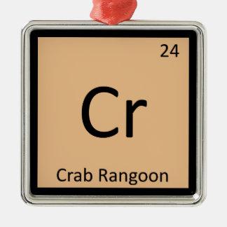 Cr - Crab Rangoon Appetizer Chemistry Symbol Christmas Ornaments