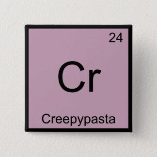 Cr - Creepypasta Chemistry Element Symbol Meme Tee Pinback Button