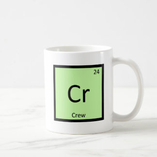 Cr - Crew Sports Chemistry Periodic Table Symbol Classic White Coffee Mug