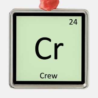 Cr - Crew Sports Chemistry Periodic Table Symbol Metal Ornament