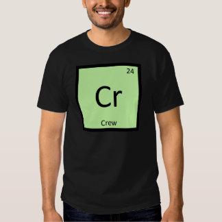 Cr - Crew Sports Chemistry Periodic Table Symbol Tshirt