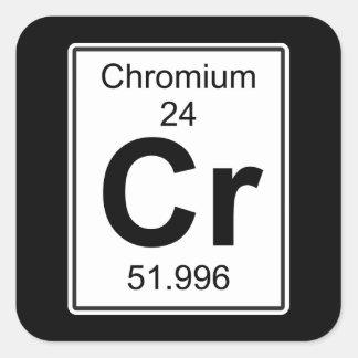 Cr - cromo pegatina cuadrada