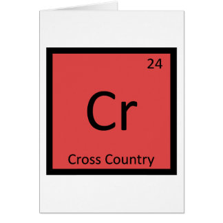 Cr - Cross Country Sports Chemistry Periodic Table Card
