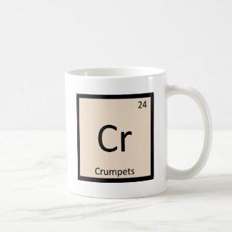 Cr - Crumpets Chemistry Periodic Table Symbol Coffee Mug