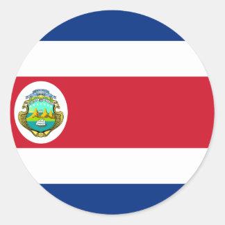 CR de la bandera de Costa Rica Pegatina Redonda