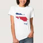 CR del mapa de la bandera de Costa Rica Camisas
