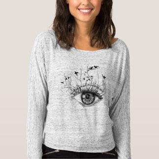 (CR) flowing shoulder-free shirt for women