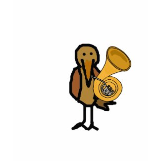CR- Funny Bird Playing the French Horn Shirt.