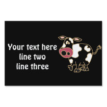 CR- Funny Cow Yard Sign