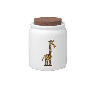 CR- Funny Giraffe Cookie Jar Candy Dish