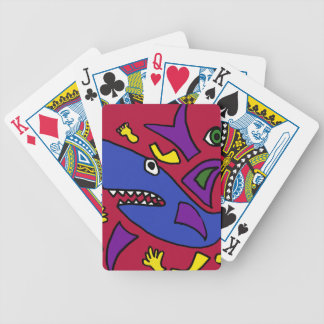 CR- Funny Shark Abstract Art Playing Cards