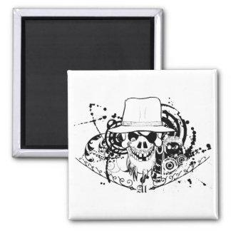Cr�ne gangster - 2 inch square magnet