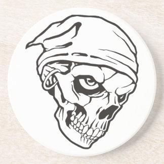 Cr�ne of pirate for Halloween - Drink Coasters