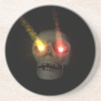 Cr�ne with the eyes fluo - drink coasters