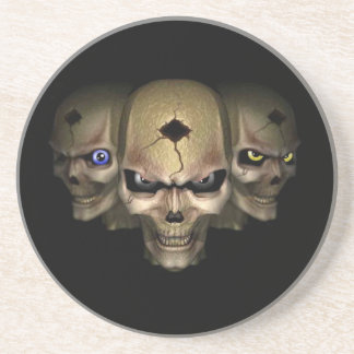 Cr�nes with the eyes fluo - drink coaster