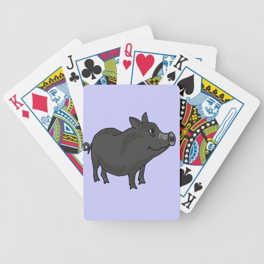 CR- Pot Bellied Pig Cartoon Bicycle Playing Cards