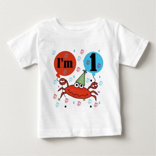 Crab 1st Birthday Tshirts and Gfits