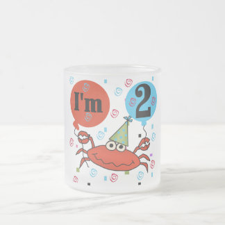 Crab 2nd Birthday Tshirts and Gifts 10 Oz Frosted Glass Coffee Mug