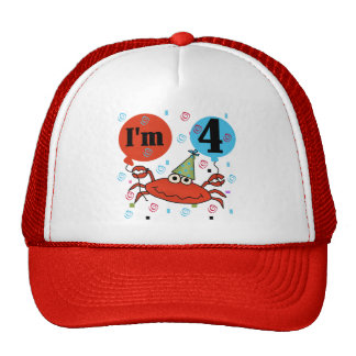Crab 4th Birthday Tshirts and Gifts Trucker Hat