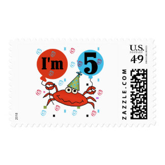 Crab 5th Birthday Tshirts and Gifts Postage