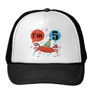 Crab 5th Birthday Tshirts and Gifts Trucker Hat