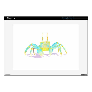 "Beach Themed crab_6500_shirts 15"" laptop decals"