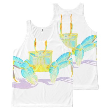 Beach Themed crab_6500_shirts All-Over-Print tank top