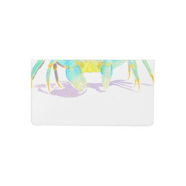 Beach Themed crab_6500_shirts checkbook cover