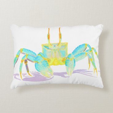 Beach Themed crab_6500_shirts decorative pillow