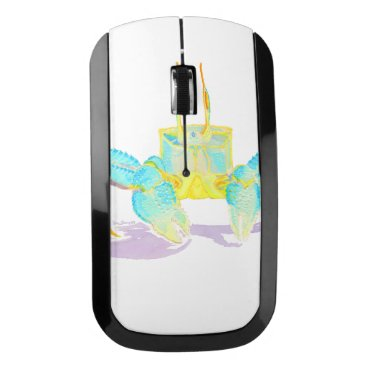 Beach Themed crab_6500_shirts wireless mouse