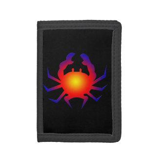 Crab and Black Tri-fold Wallets