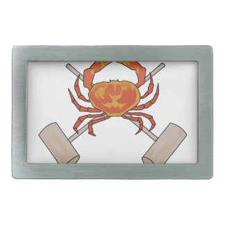 Crab And Mallets Belt Buckle