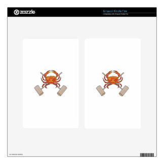 Crab And Mallets Kindle Fire Decals