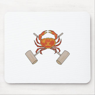 Crab And Mallets Mouse Pad
